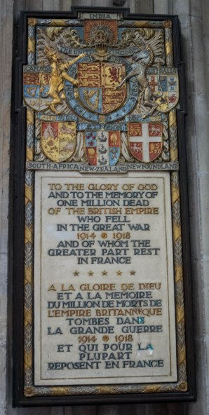 A mention of Australia (just to the right of the horse) in the Cathedral